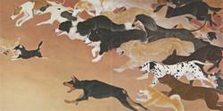 一〇八匹犬図-走-162.1×324.2郷さくら美術館蔵