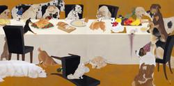 一〇八匹犬図-食-162.1×324.2郷さくら美術館蔵