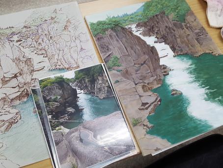 日本画教室生徒作品