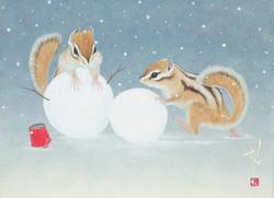 4-雪だるま