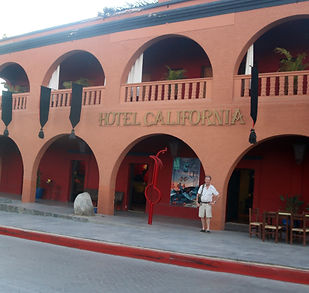 """When the Eagles released the song, they had to write the owners of this Todos Santos hotel and say, """"Stop telling everyone the song is about your hotel."""""""