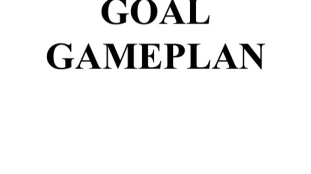 GOAL GAMEPLAN WORKBOOK