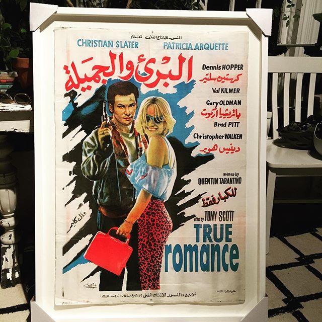 Rare Egyptian True Romance Poster #custo
