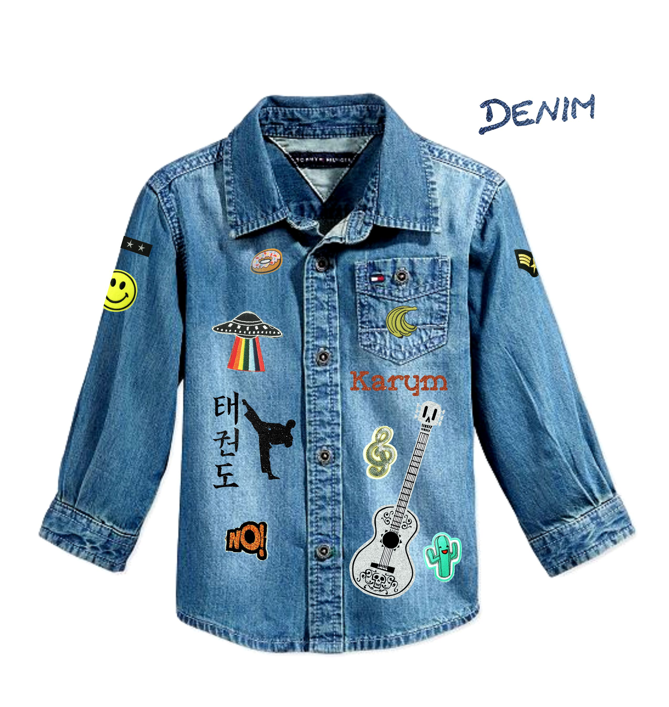 DENIM T SHIRT