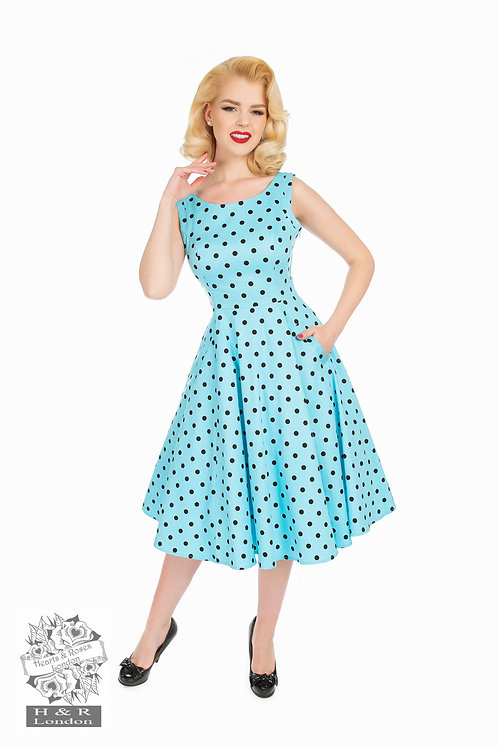 Playful Polka Dot Swing Dress
