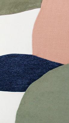 Patchwork abstrait tissus upcyclés
