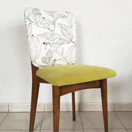 Chaise 70s' Bi-tissu