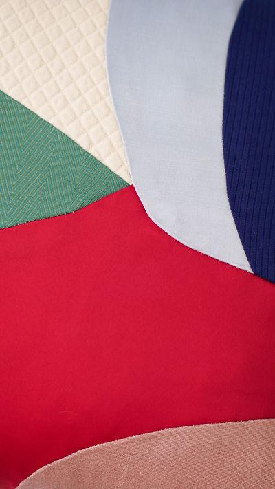 coussin patchwork contemporain upcyclé
