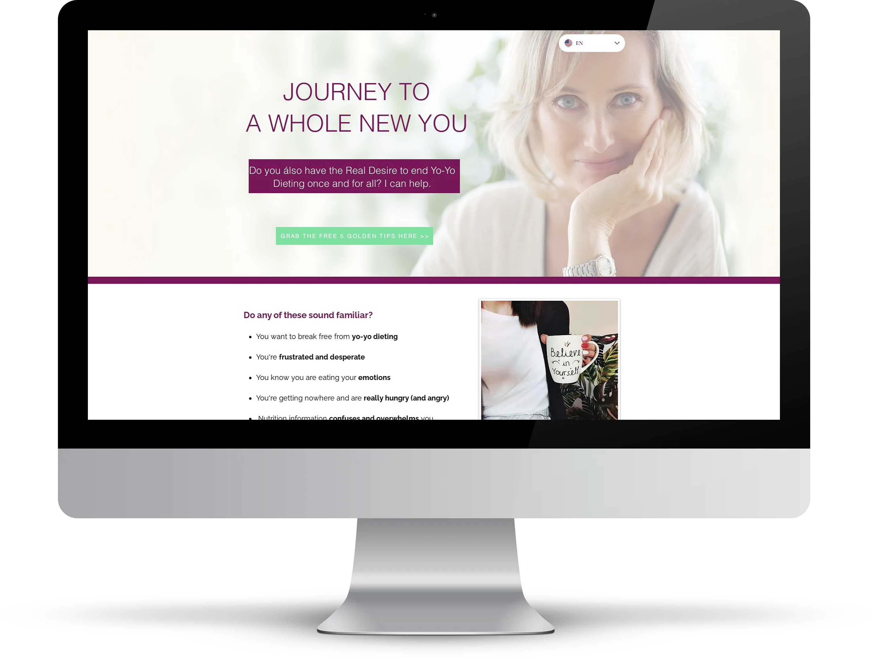 One Page Landing Website