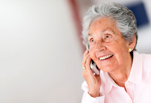 Portrait of a happy senior woman on the