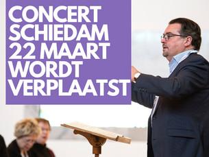 Concert Schiedam verplaatst ivm coronavirus