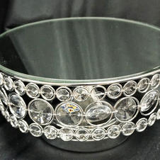Silver Metal Mirror Stand