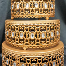 Gold Beaded Stands