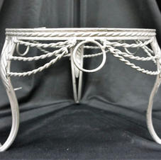 Silver Rod Iron Stand