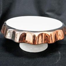 White & Rosegold Platter Stand