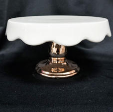 Rosegold White Top Platter Stand