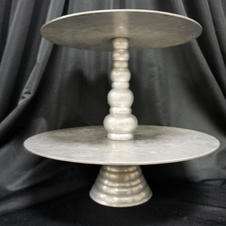 Silver 2-Tiered Stand
