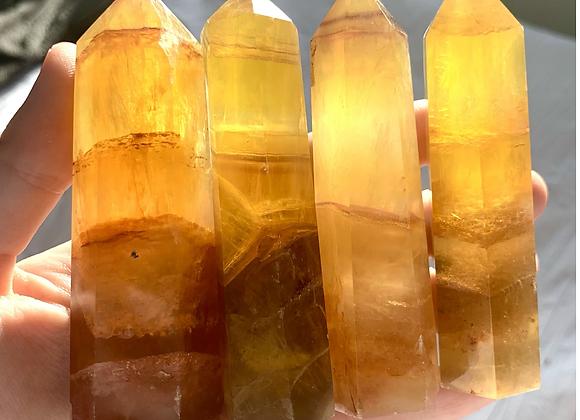 Yellow Fluorite Tower