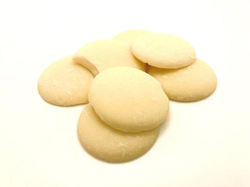 White Chocolate Couverture Buttons - Organic, Fairtrade. plastic free. zero waste bulk foods. online. horsham. dorking