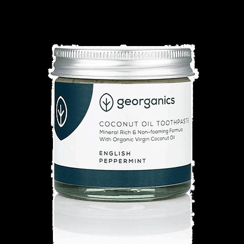 Georganics English Peppermint - Coconut Oil Toothpaste. Zero waste bulk foods. plastic free. horsham. sussex. dorking. online