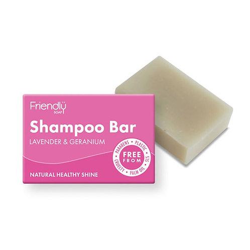 Lavender & Geranium Shampoo bar by Friendly Soap. zero waste bulk foods. plastic free. online. horsham. sussex
