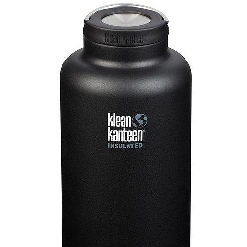Klean Kanteen TK Wide Vacuum Insulated 64oz (1900ml) Bottle. Matte Black