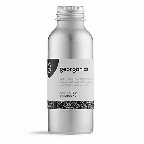 georganics activated charcoal oil pulling mouthwash. plastic free. zero waste bulk foods. online. horsham. dorking