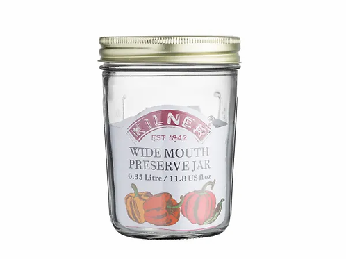 Kilner 0.35 litre Wide Mouth Preserving Jar. zero waste bulk foods. plastic free. online. horsham. dorking