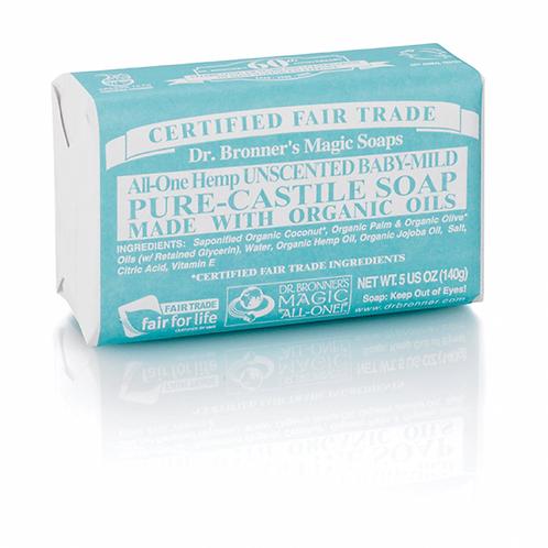 Dr Bronner Pure Castille Soap. unscented baby mild. zero waste bulk foods. plastic free. online. horsham. sussex