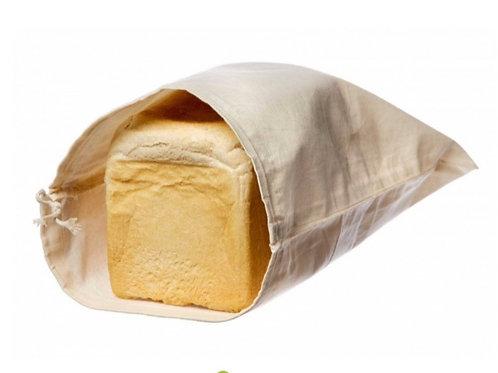 Organic Cotton Bread Bag. zero waste bulk foods. plastic free. online. horhsam. dorking