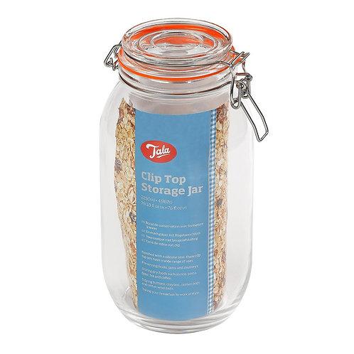 Tala clip top airtight glass jar. 2250ml. zero waste bulk foods. plastic free. horsham. dorking. on-line