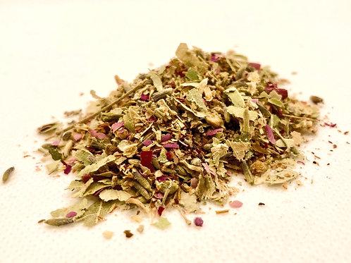 Organic Calming Limeflower, Rose & Lavender Loose Leaf Tea. zero waste bulk foods. plastic free. online. horsham. dorking