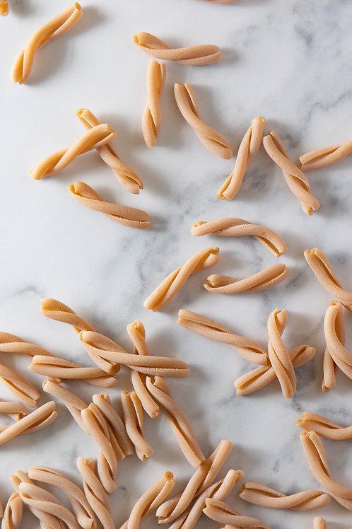 british grown organic white spelt casarecce pasta. plastic free. zero waste bulk foods. horsham. Sussex. dorking. online