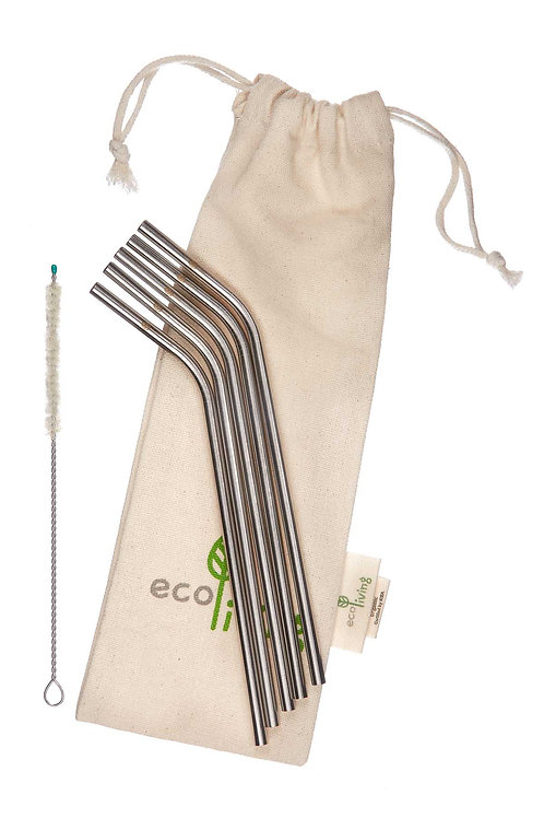 Stainless steel straws. plastic free. zero waste.