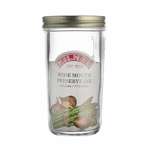 Kilner 0.5 litre Wide Mouth Preserving Jar. zero waste bulk foods. plastic free. online. horsham. dorking