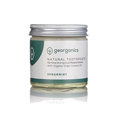 Georganics Spearmint - Coconut Oil Toothpaste. Zero waste bulk foods. plastic free. horsham. sussex. dorking. online