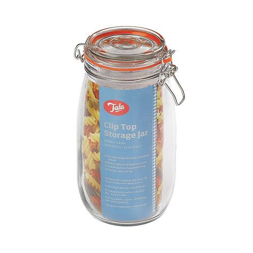 Tala clip top airtight glass jar. 1550ml. zero waste bulk foods. plastic free. horsham. dorking. on-line