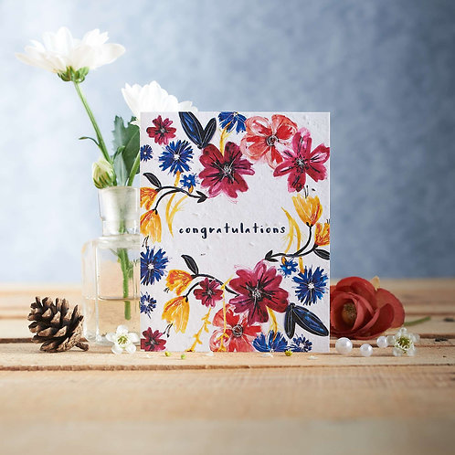 Congratulations Wildflower Seed Card Front