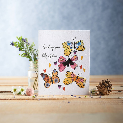 Sending You Lots of Love Wildflower Seed Card Front