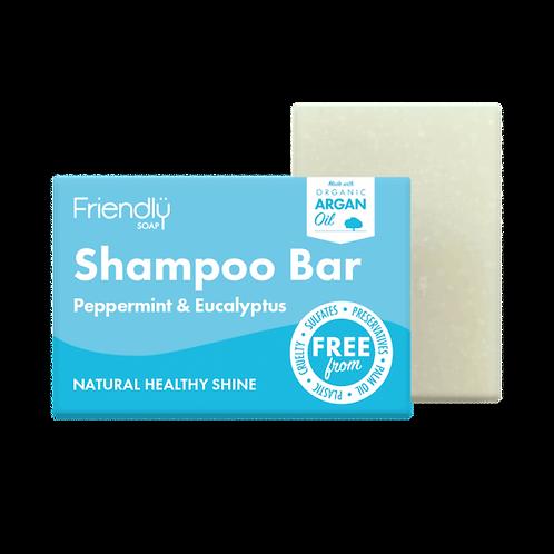 Peppermint & Eucalyptus Shampoo bar by Friendly Soap. zero waste bulk foods. plastic free. online. horsham. sussex