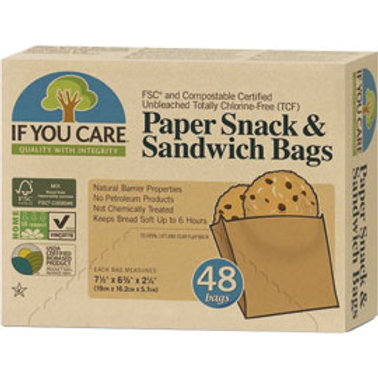 If You Care Paper Snack & Sandwich Bags. Compostable. Plastic Free. Zero Waste Bulk Foods. Horsham. Sussex