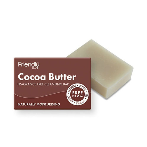 friendly soap cocoa butter fragrance free cleansing bar. zero waste bulk foods. horsham. dorking. online. plastic free