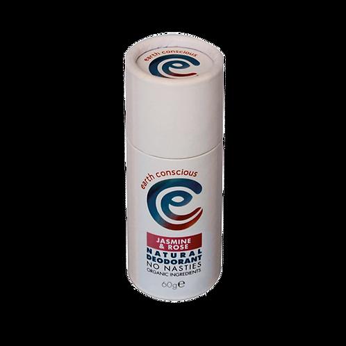 Earth Conscious Jasmine & Rose Deodorant Stick. zero waste bulk foods. plastic free. online. horsham. sussex