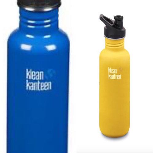 Klean Kanteen 27oz (800ml) stainless steel water bottle. zero waste bulk foods. plastic free. online. horsham. sussex