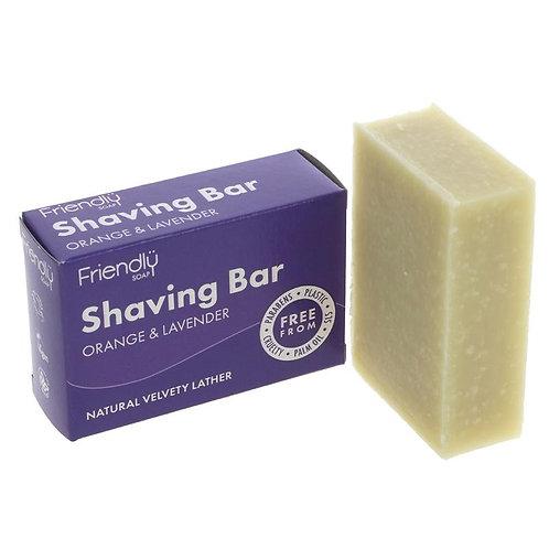 Shaving soap bar. Orange & Lavender. plastic free. zero waste. horsham.