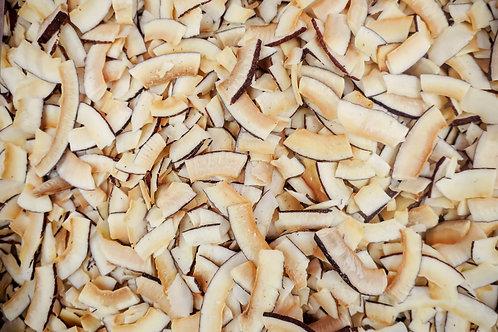 Organic, toasted, coconut chips. plastic free. zero waste. horsham. Sussex