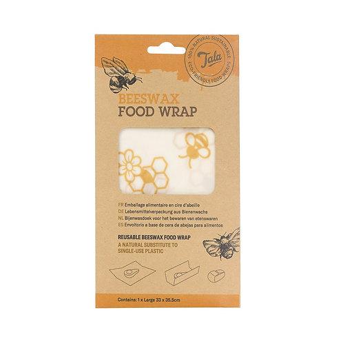 Large Single Beeswax Wrap. zero waste bulk foods. plastic free. online. horsham. dorking.