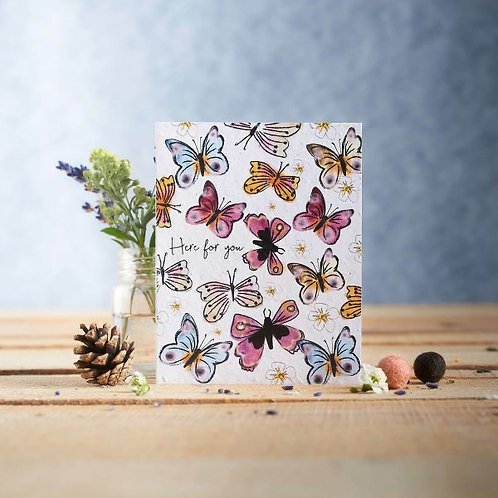 Here For You  wildflower seeded card front. zero waste bulk foods.plastic free. online. horsham. sussex