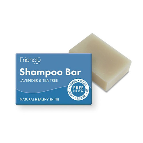Lavender & Tea Tree Shampoo bar by Friendly Soap. zero waste bulk foods. plastic free. online. horsham. sussex