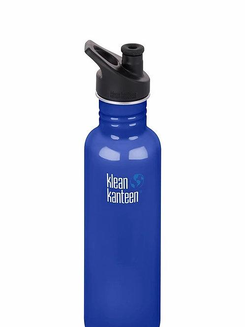 Klean Kanteen Classic 27oz (800ml) Bottle with Sports Cap, Coastal Waters